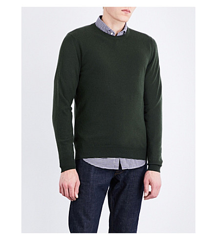 SLOWEAR Fine-knit wool and cashmere knitted jumper (Green