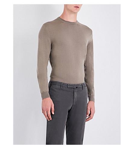 SLOWEAR Fine-knit wool-blend jumper (Beige