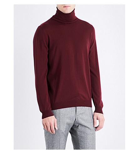 SLOWEAR Turtleneck flexwool knitted jumper (Bordeux