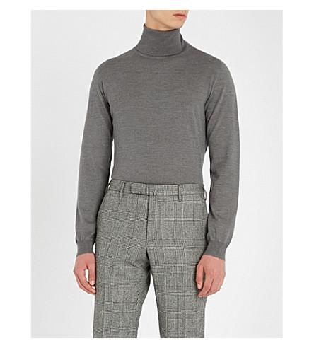 SLOWEAR Turtleneck flexwool knitted jumper (Grey