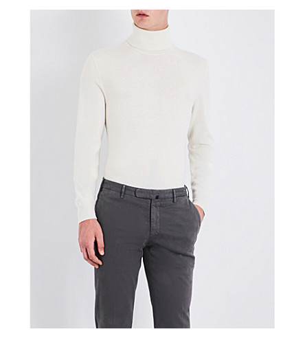SLOWEAR Turtleneck wool and cashmere-blend jumper (Ecru