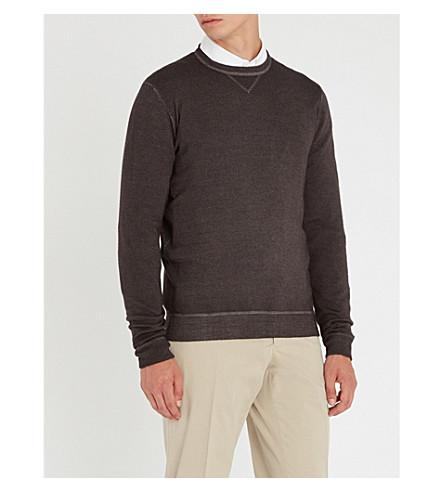 SLOWEAR Dyed wool jumper (Charcoal