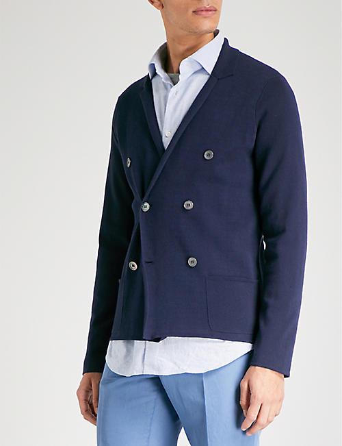 SLOWEAR Milano double-breasted cotton cardigan