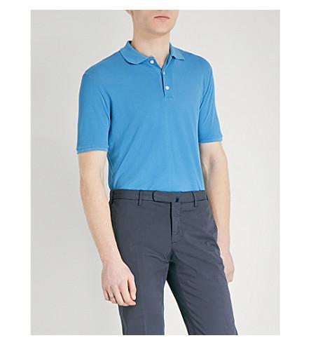 SLOWEAR Slim-fit cotton polo shirt (Blue