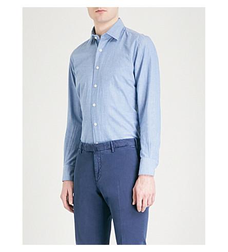 SLOWEAR Slim-fit cotton shirt (Blue