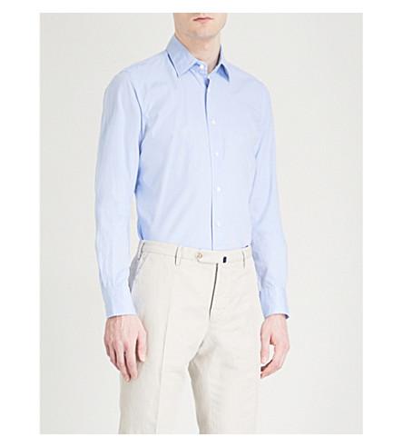 SLOWEAR Regular-fit cotton Oxford shirt (Blue