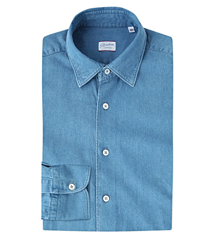 SLOWEAR Kurt regular-fit denim shirt (Blue