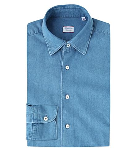 SLOWEAR 库尔特常规版型牛仔衬衫 (蓝色