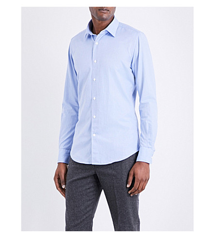 SLOWEAR Kurt regular-fit cotton Oxford shirt (Blue