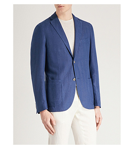 SLOWEAR Montedoro regular-fit woven-cotton jacket (Blue