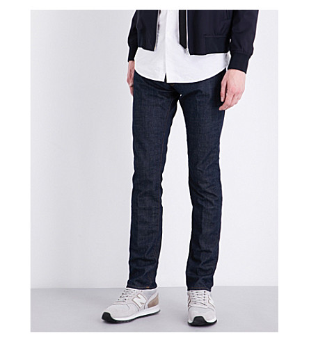 SLOWEAR Slim-fit straight jeans (Dark+wash