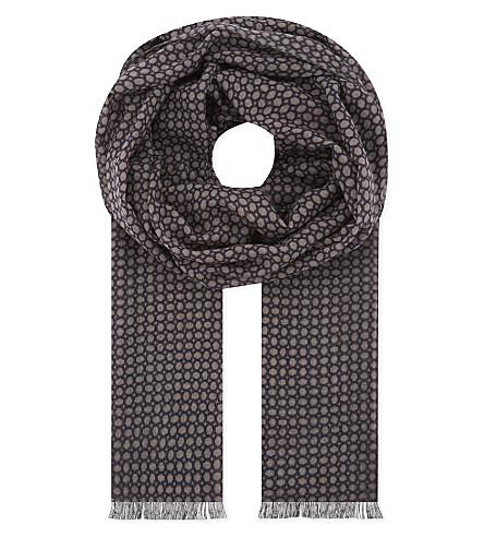 LARDINI Printed wool scarf (Pink