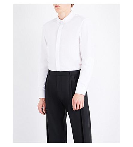 CHALAYAN Barrel-cuff regular-fit cotton shirt (White