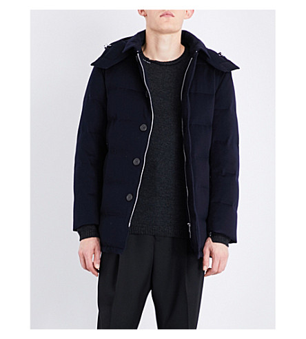 MACKINTOSH Storm System wool-down quilted coat (Navy