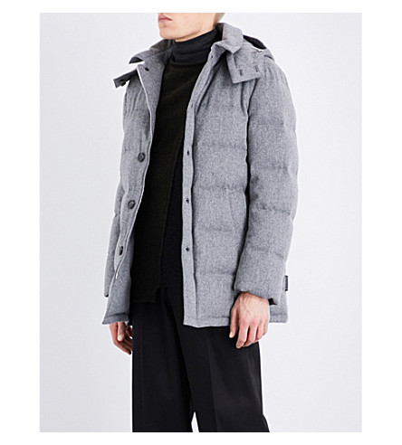 MACKINTOSH Storm System wool-down quilted coat (Light+grey