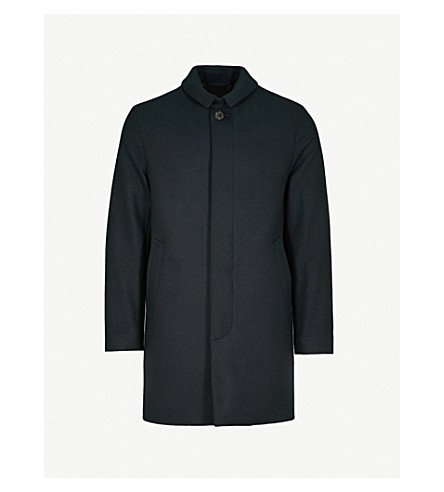 MACKINTOSH Longline wool coat (Navy