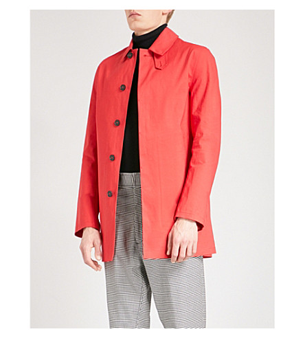 MACKINTOSH Classic cotton mac (Royal+red