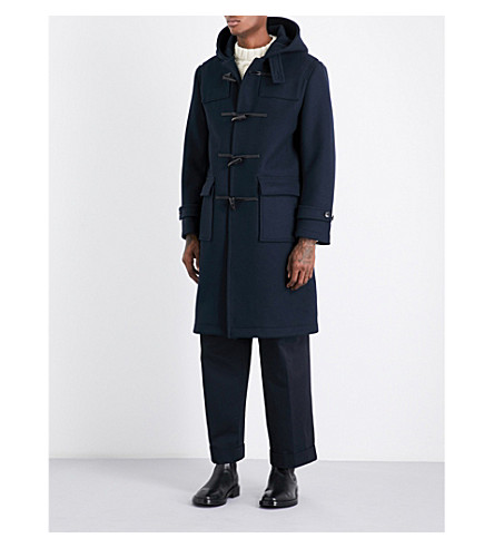 MACKINTOSH Hooded wool duffle coat (Dark+navy