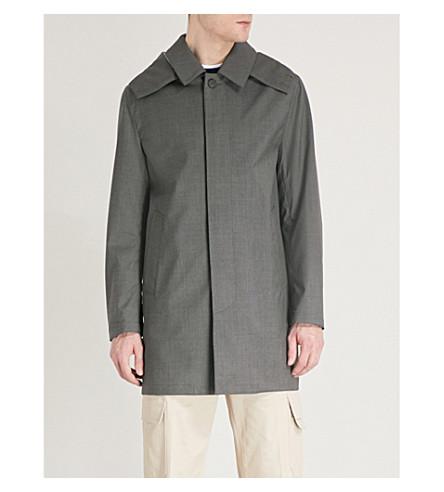 MACKINTOSH Single-breasted wool mac (Grey