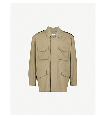 MACKINTOSH Pocket-detailed cotton-blend field jacket (Military