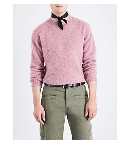OFFICINE GENERALE Fine-knit wool jumper (Pink
