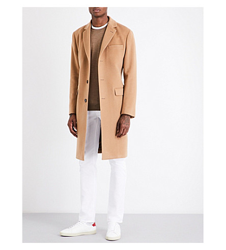 OFFICINE GENERALE Alfie camel wool-blend coat (Camel