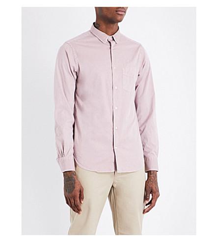 OFFICINE GENERALE Slim-fit cotton shirt (Pink