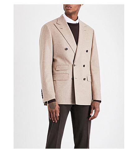 THOM SWEENEY Double-breasted wool jacket (Stone
