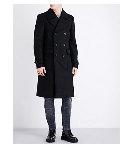 BELSTAFF Mildford double-breasted wool-blend coat (Black