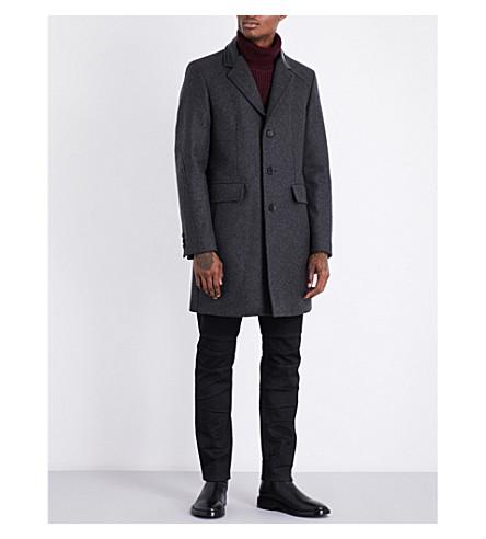 BELSTAFF Wellingbury wool-blend duffle coat (Anthracite
