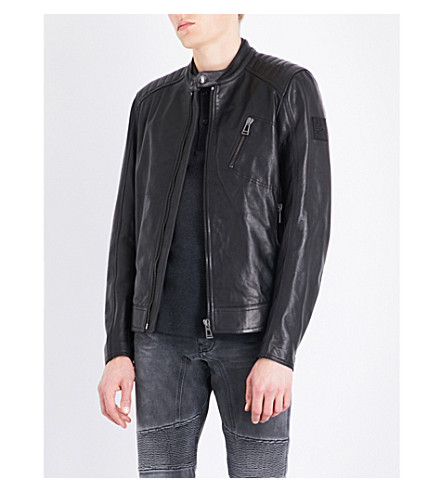 BELSTAFF Racer leather jacket (Black