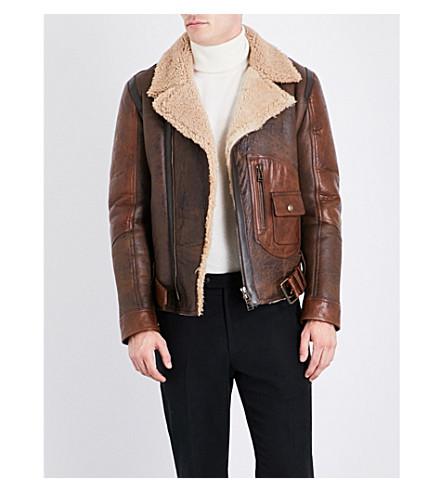 BELSTAFF Danescroft shearling leather jacket (Brown