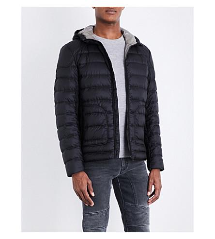 BELSTAFF Hooded quilted jacket (Black