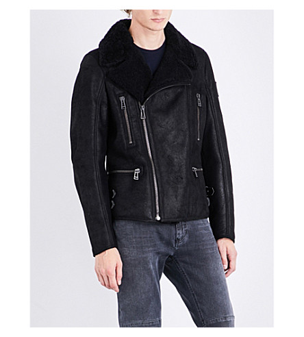BELSTAFF Tonal shearling jacket (Black