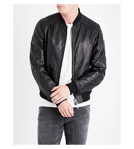 BELSTAFF Pershall leather jacket (Black