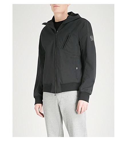 BELSTAFF Rockford hooded shell bomber jacket (Black