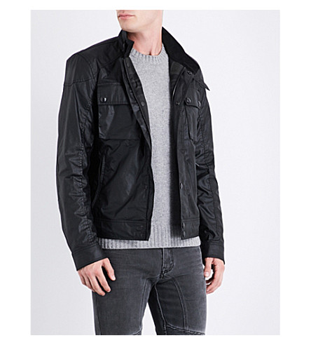 BELSTAFF Racemaster waxed-cotton jacket (Black+black