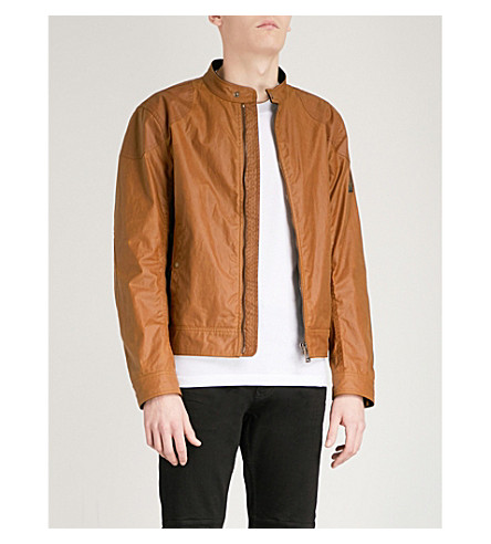 BELSTAFF Kelland Racer waxed-cotton jacket (Sepia