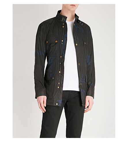 BELSTAFF Roadmaster camo-print shell coat (Deep+electric+blue