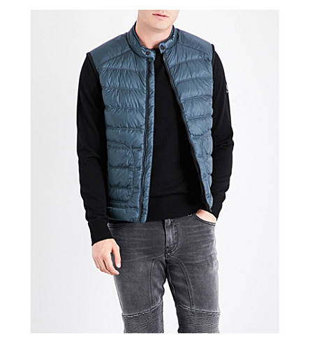 BELSTAFF Quilted shell gilet (Legion+blue