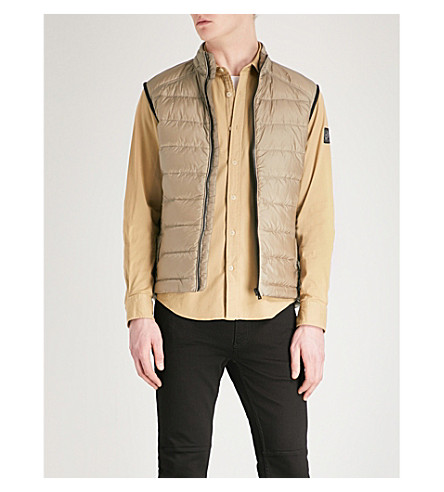 BELSTAFF Rodings quilted shell-down gilet (Ash+green