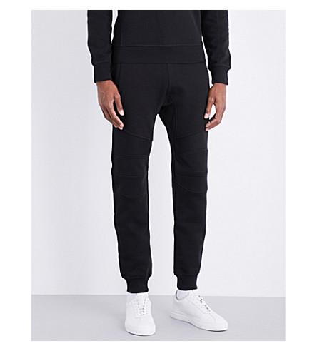 BELSTAFF Biker-knees cotton-jersey jogging bottoms (Black