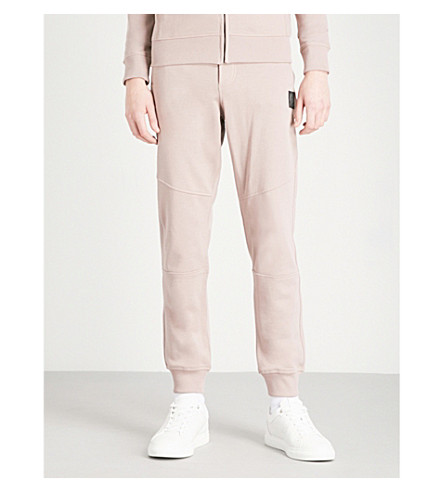 BELSTAFF Oakington cotton-jersey jogging bottoms (Ash+rose