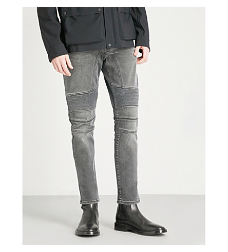 BELSTAFF Eastham moto slim-fit tapered jeans (Charcoal