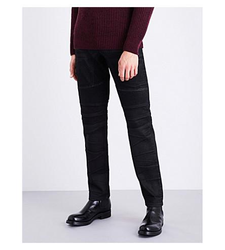 BELSTAFF Eastham biker-style stretch-denim jeans (Black
