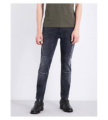BELSTAFF Tattenhall biker slim-fit skinny jeans (Charcoal
