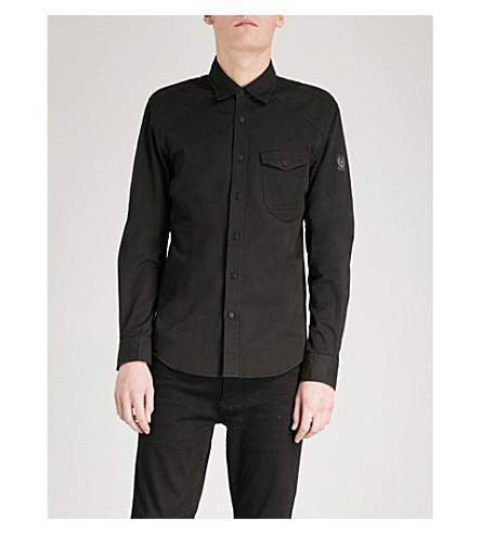 BELSTAFF Steadway regular-fit cotton-twill shirt (Black