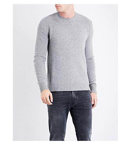 BELSTAFF Lanson virgin wool jumper (Mid+grey+melange