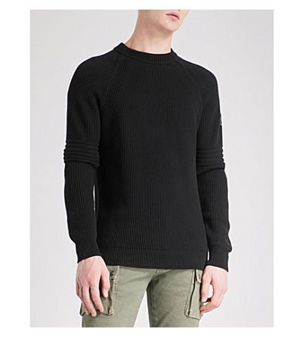 BELSTAFF Hurtstone cotton jumper (Black