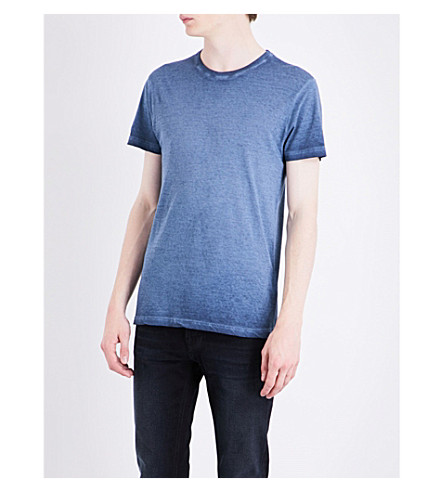 BELSTAFF Trafford faded cotton T-shirt (Blue
